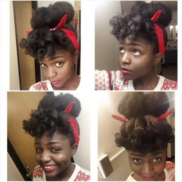 Aboyowa From Nigeria 4C Natural Hair Style Icon Black