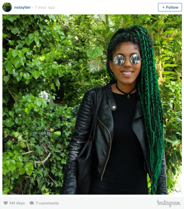 16 Stunning Photos Of Colored Box Braids The Summer
