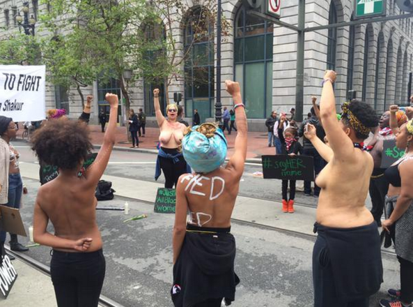 Black Women March Topless To Protest Police Killings Of