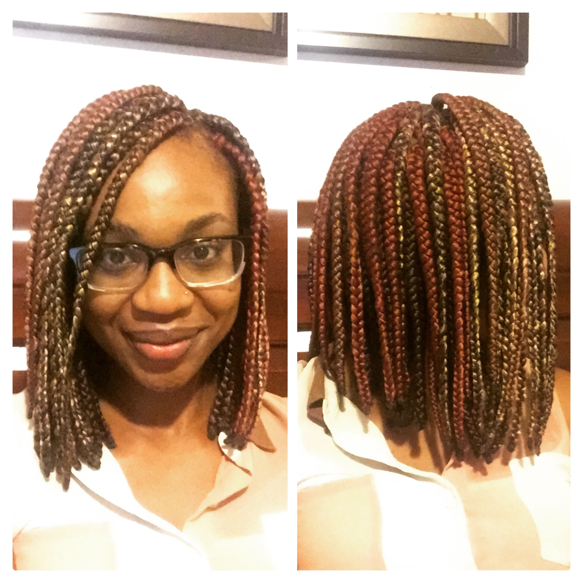 I'm Currently Rocking Both The Colored And Bob Box Braid Trends!