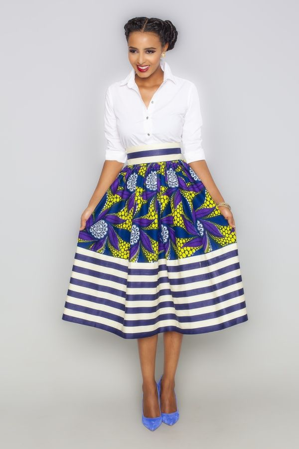 50 Fabulous Modern Ways to Wear African Fabric | Black Girl with Long ...