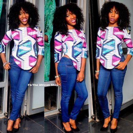 african print tunic