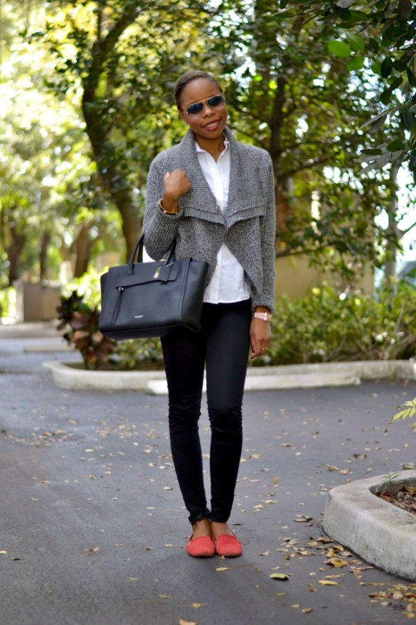 miami fashion blogger black fashion blogger fall winter outfit ideas casual friday work look 1