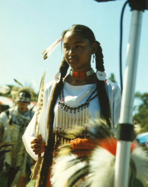 afro native american cherokee girl