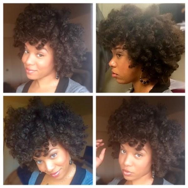 Day 2 twist out on blow dried hair.