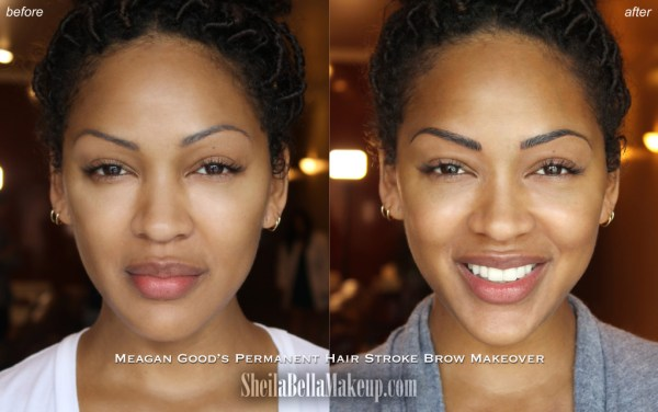 I Tried Microblading The Semi Permanent Eyebrow Tattooing Method Used By Meagan Good Black