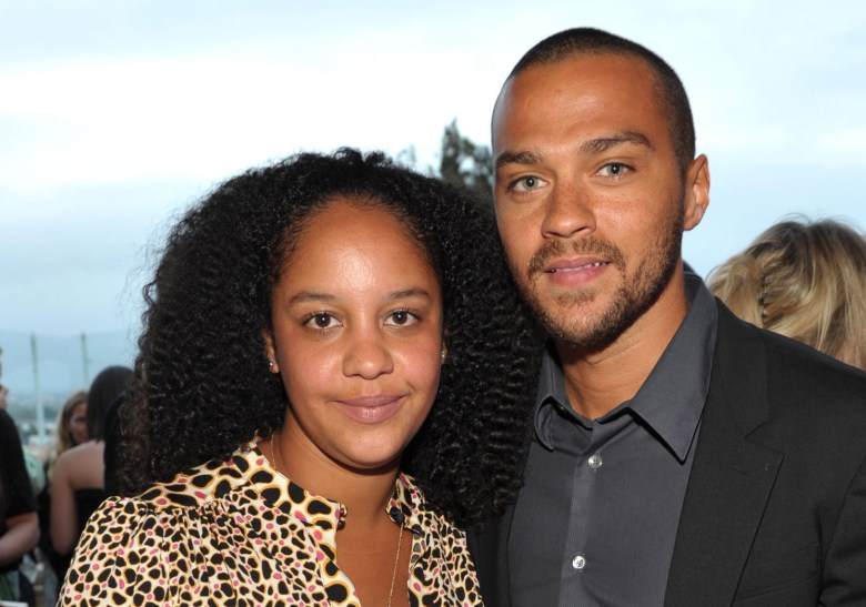 "WEST HOLLYWOOD, CA - JUNE 08: Actor Jesse Williams (R) and Aryn Drake-Lee attend the ""GQ, Nautica, and Oceana World Oceans Day Party"" at Sunset Tower on June 8, 2010 in West Hollywood, California. (Photo by John Shearer/Getty Images for GQ Magazine)"