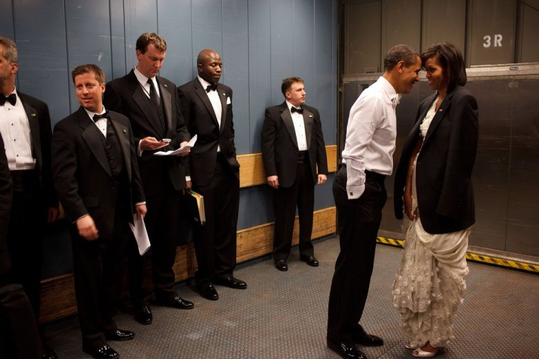 Sharing a private moment on Inauguration Day. 2009.