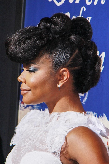 pics gabrielle union stealth rocked an all natural hair