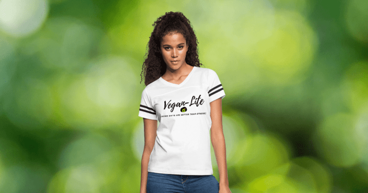 Woman in Vegan Lite Shirt