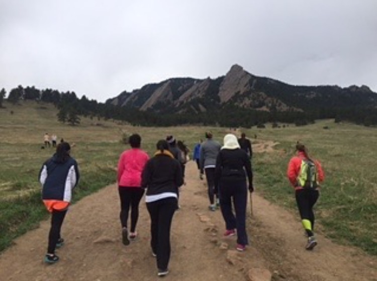 The crew at the start of the hike. Half of us were out of breath on that little hill, hahahahaha