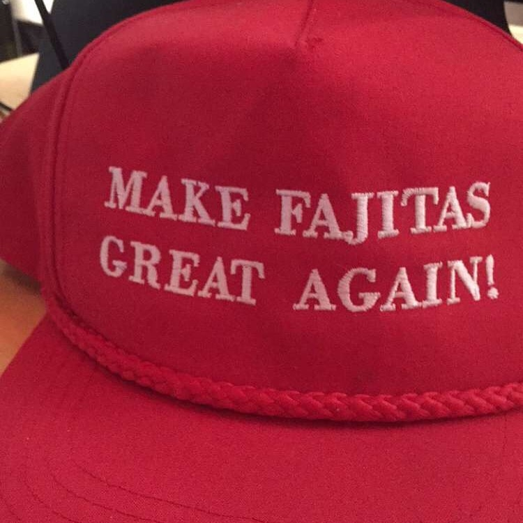 The staff wore these hats and I LOVED them. One of the guys told me that he's had some customers who were offended by this hat. HA!