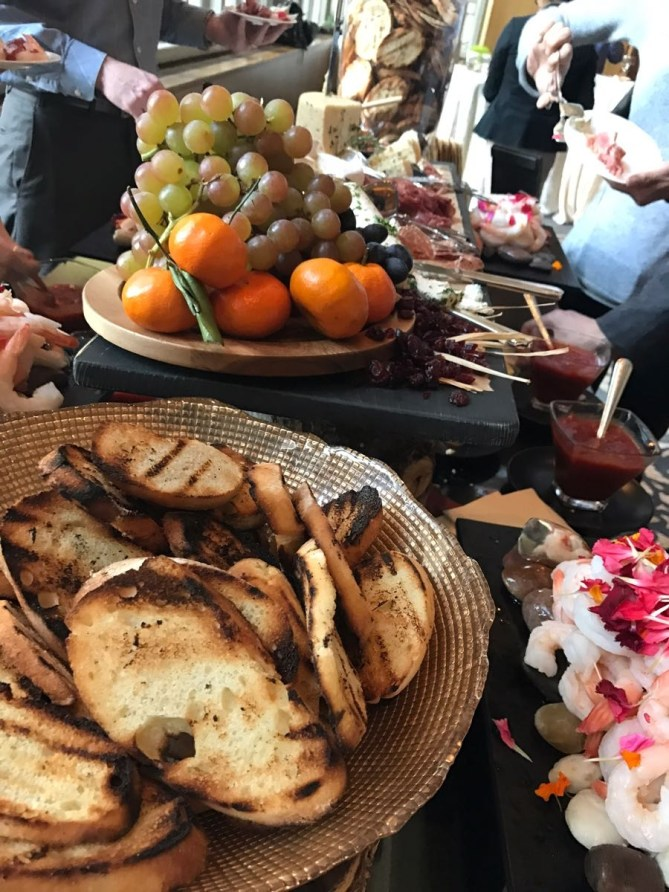 Look at this beautiful spread the Fairmont provided during the networking happy hour.