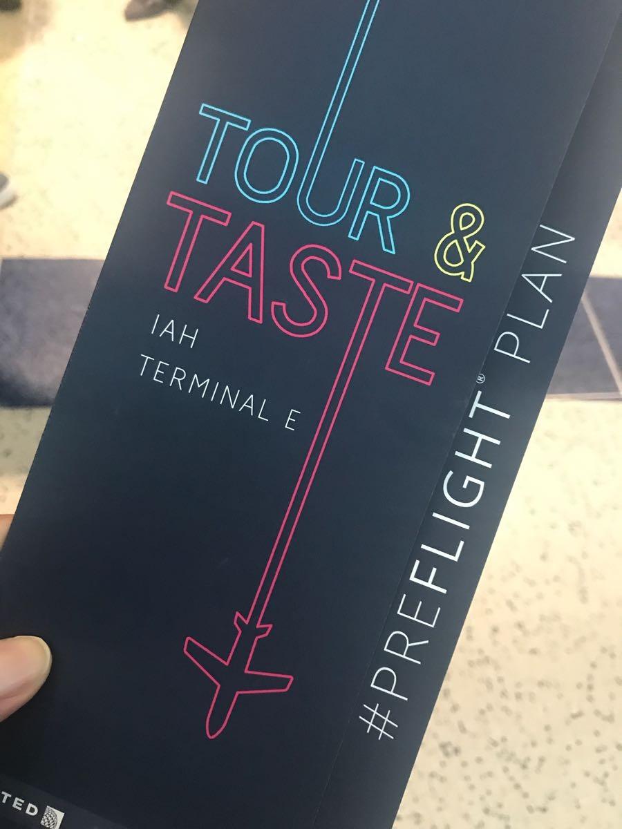 Tour & Taste Through IAH Terminal E-23