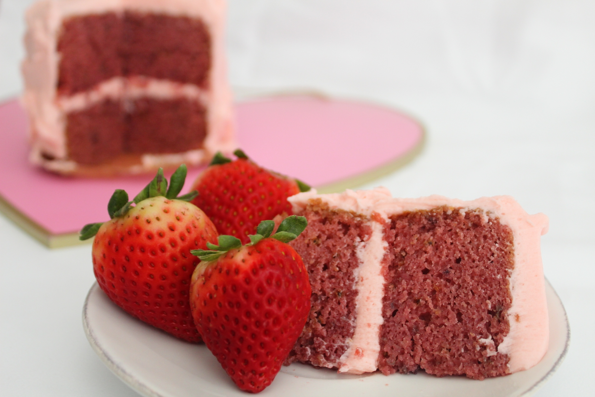 Strawberry Champagne Cake-2