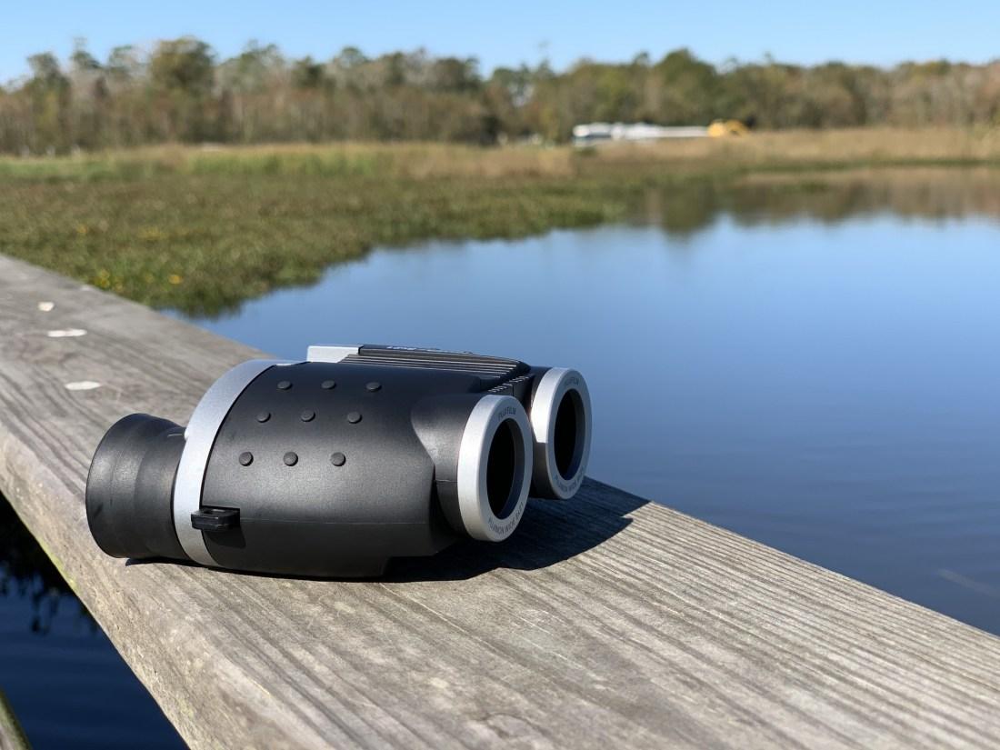 Binoculars on a peer