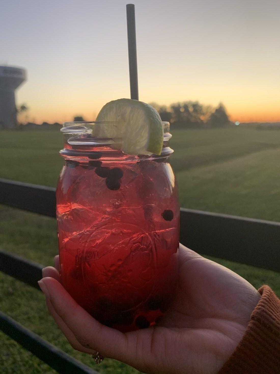 Drink in mason jar