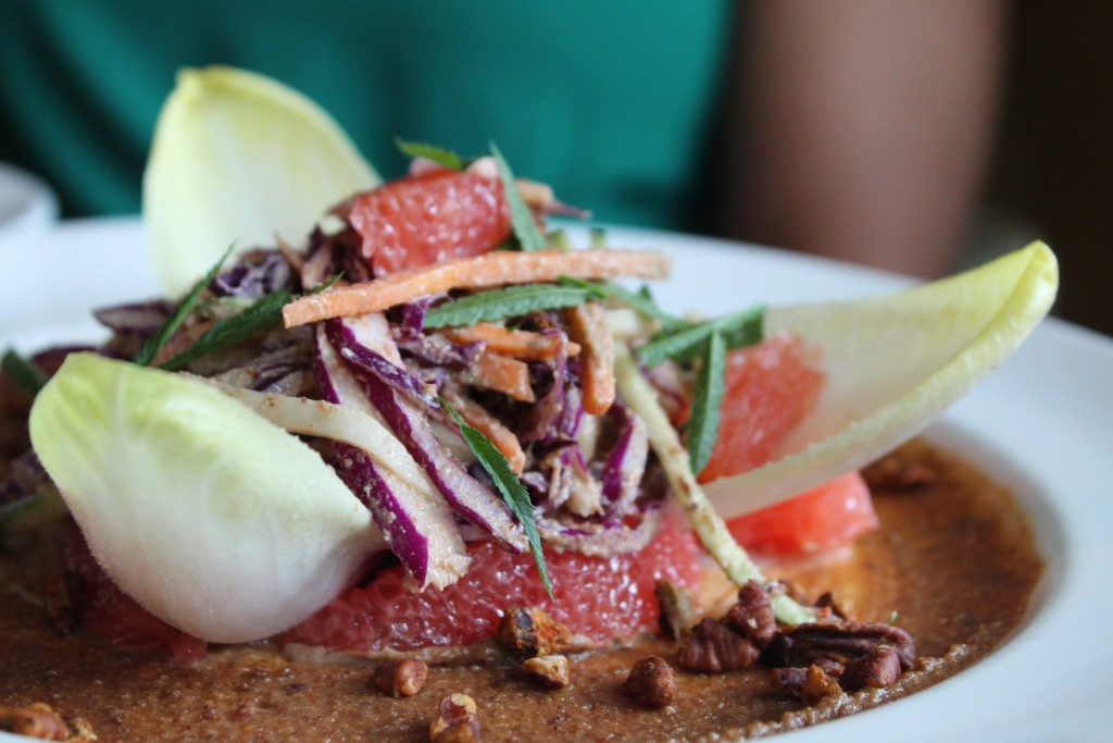 Ruby Red Grapefruit and Cabbage Salad