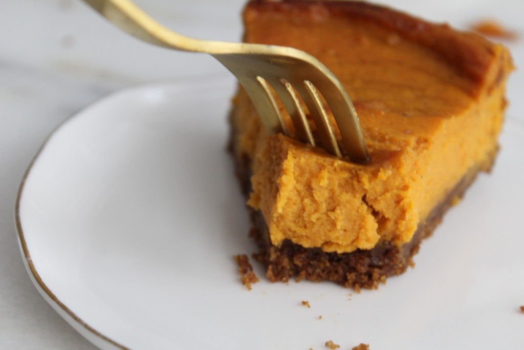Sweet Potato Pie with a fork