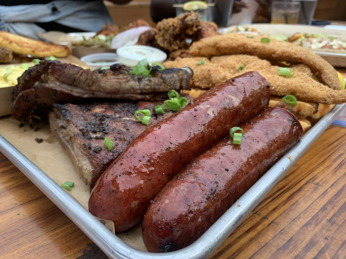 Sausage on Kamped Out Platter