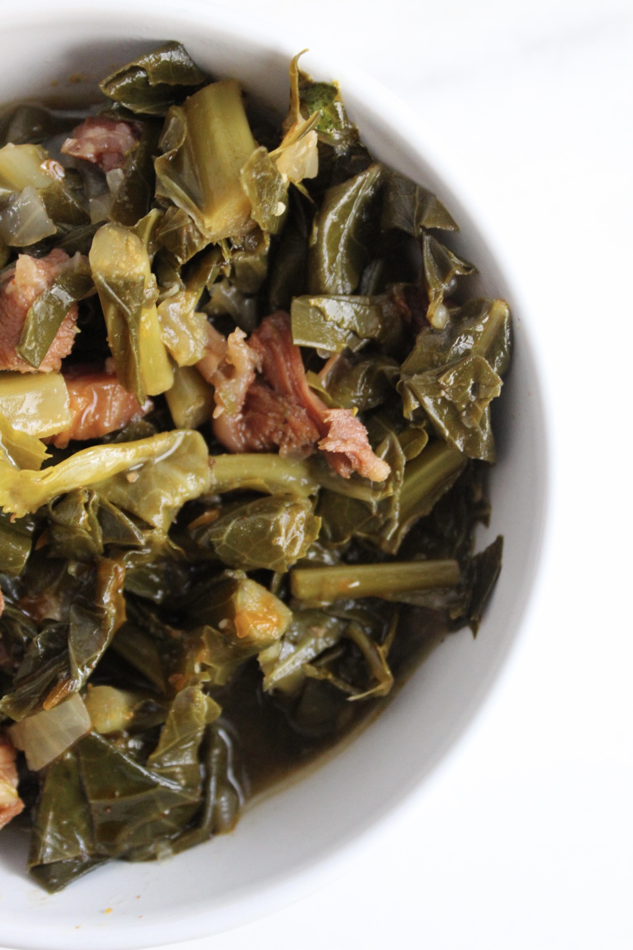 Bowl of Smoked Collard Greens