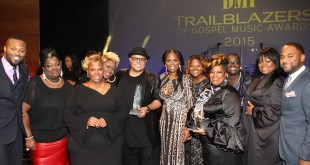 Pictured above: The Anointed Pace Sisters and Israel Houghton (center) with BMI Executive Director, Writer-Publisher Relations Wardell Malloy (far left), BMI Vice President, Writer-Publisher Relations Catherine Brewton (center), and BMI Director, Writer-Publisher Relations Byron Wright (far right). (Photo Credit: Arnold Turner)