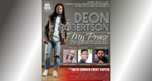 "Deon Robertson Releases New Single ""My Praise"" & Hosts Fundraiser 