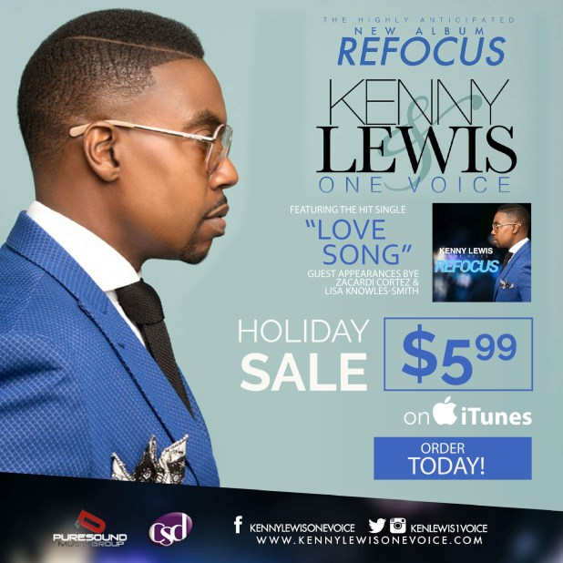 "Kenny Lewis & One Voice ""REFOCUS"" Holiday Sale"" 