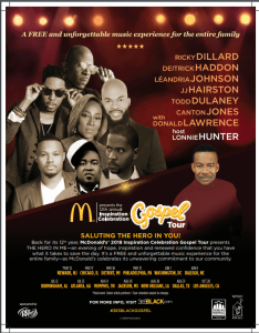 McDonald's Reinforces its Commitment to the Community through 12th Annual McDonalds Inspiration Celebration Gospel Tour