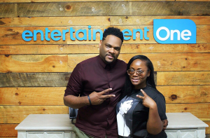 Keyondra Lockett with eOne A&R Executive Stan Jones at the Entertainment One Nashville office. June 29, 2018