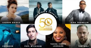 GMA announces nominees for 50th Annual GMA Dove Awards, October 15 in Nashville