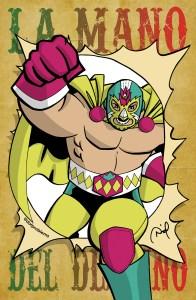 """""""La Mano Del Destino"""" comic pinup"""