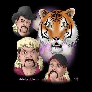 """T-shirt design based on """"Tiger King."""""""