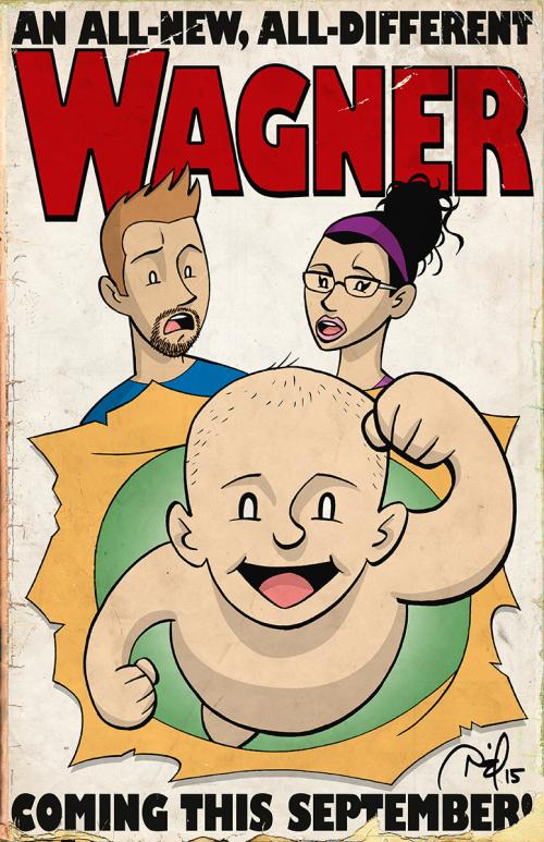 Wagner family baby announcement artwork