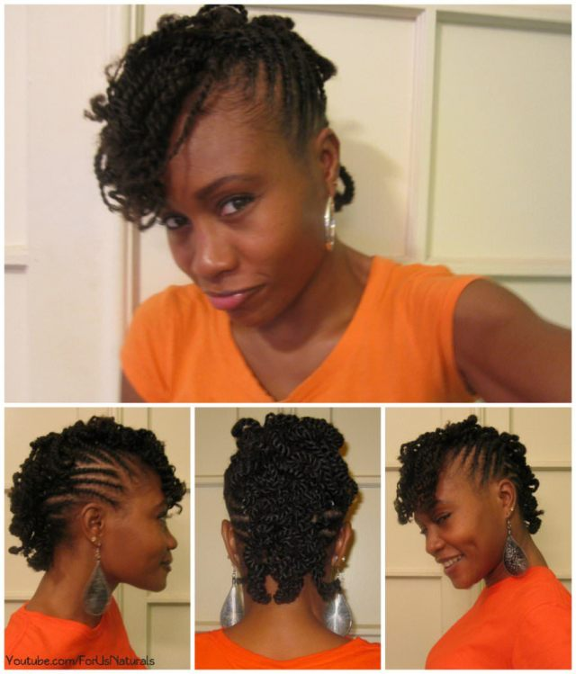 flat twisted curly mohawk - black hair information