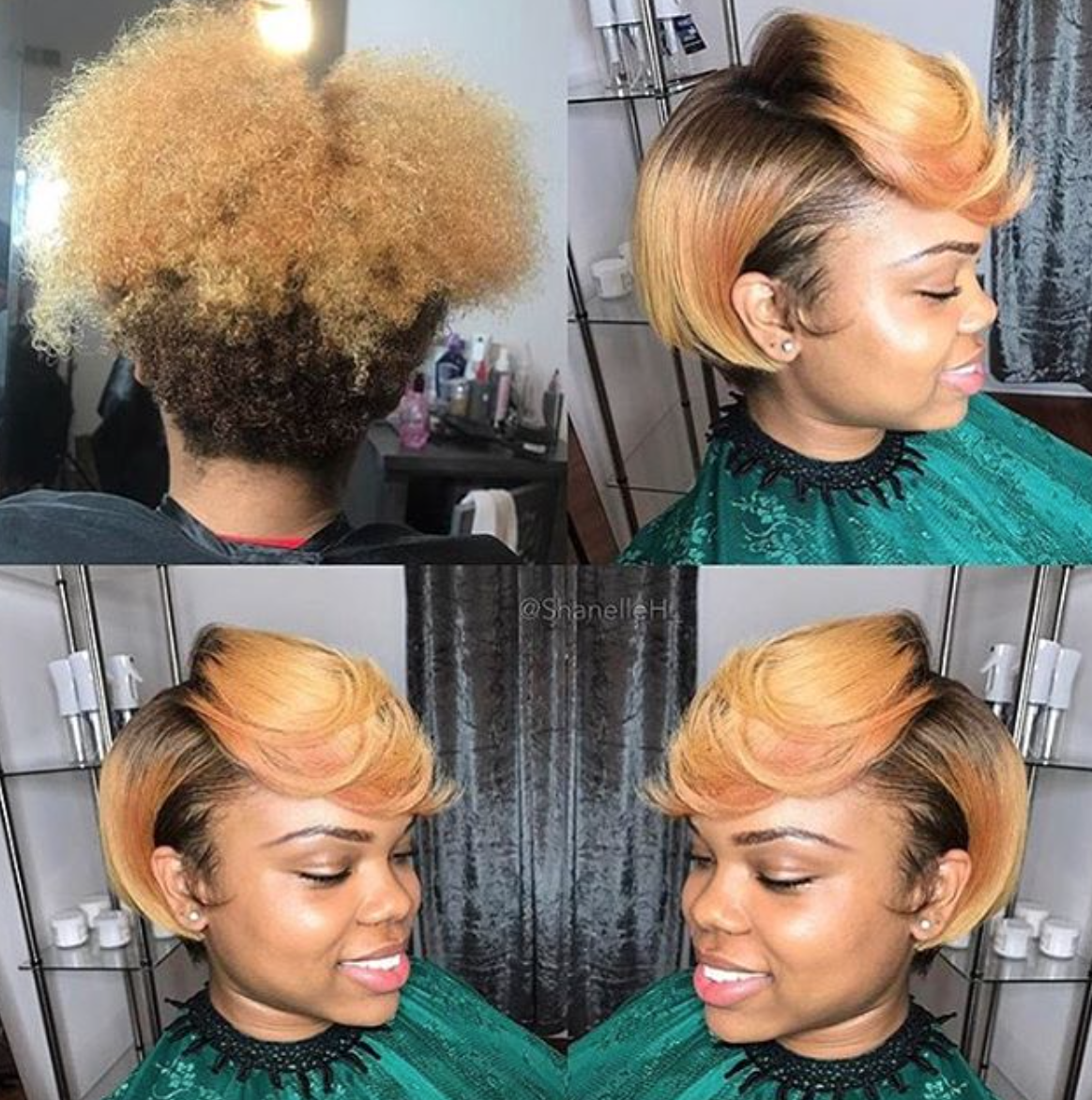 Silk Press Bob On Natural Hair Novocom Top