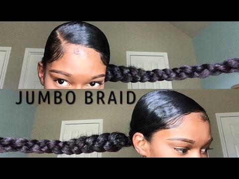 jumbo braid ponytail with kanekalon hair natural hair video black hair information