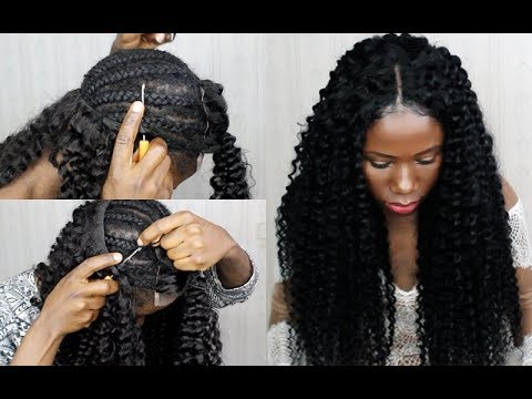new technique no sew in weave no leave out crochet your weave 20 minutes video black hair