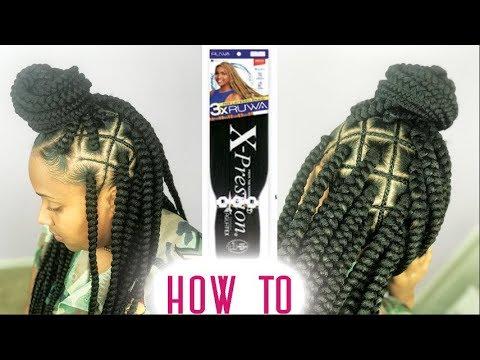 Spider Web Box Braids Tutorial Step By Step Ft RUWA Hair