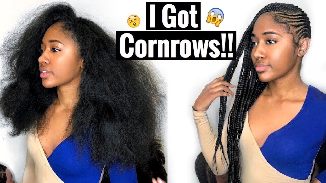 Watch Me Get Cornrows For The First Time Lemonade Braids