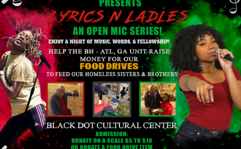 A Call to support LYRICS & LADLE:  An open mic series  A Black Hammer – ATL, GA Unit event