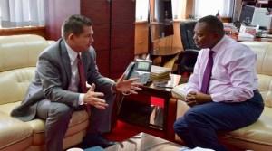 Ambassador Kyle McCarter meets Director of Criminal Investigations George Kinoti on