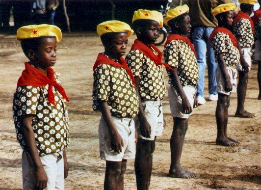 Revolutionary African youth in Burkina Faso