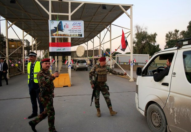 """2018-colonized sellouts guarding the entrance to the """"green zone"""" in Baghdad"""