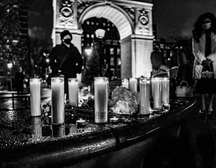 Memorial for Trans deaths in Washington Square Park (@bbuudi)