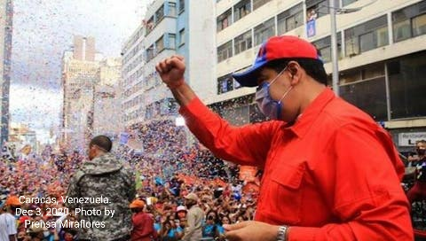 President Nicolas Maduro at a rally in Caracas, Venezuela, Dec. 3, 2020. | Photo: Prensa Miraflores