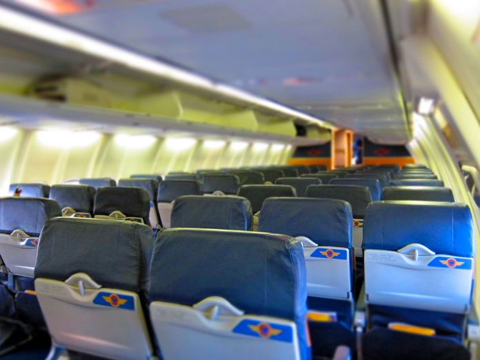image of empty airline seats