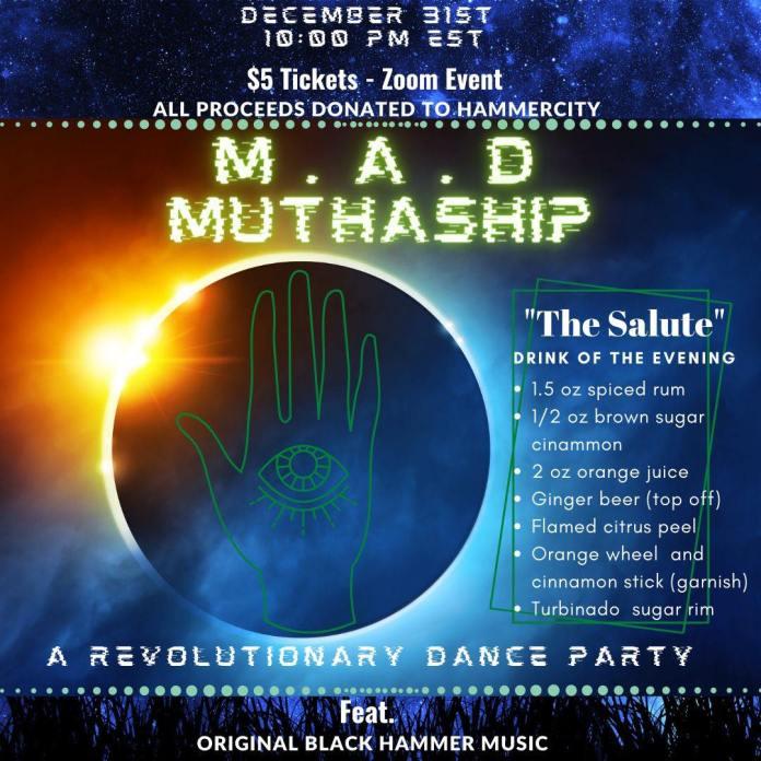 Original flyer art advertising the event on social media.