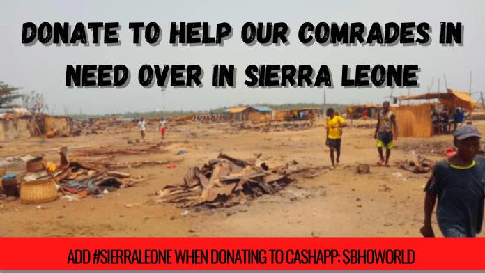 Black Hammer Donation Banner for Sierra Leone