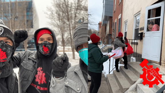 Colorado Hammers out in negative-degree weather serving the people!